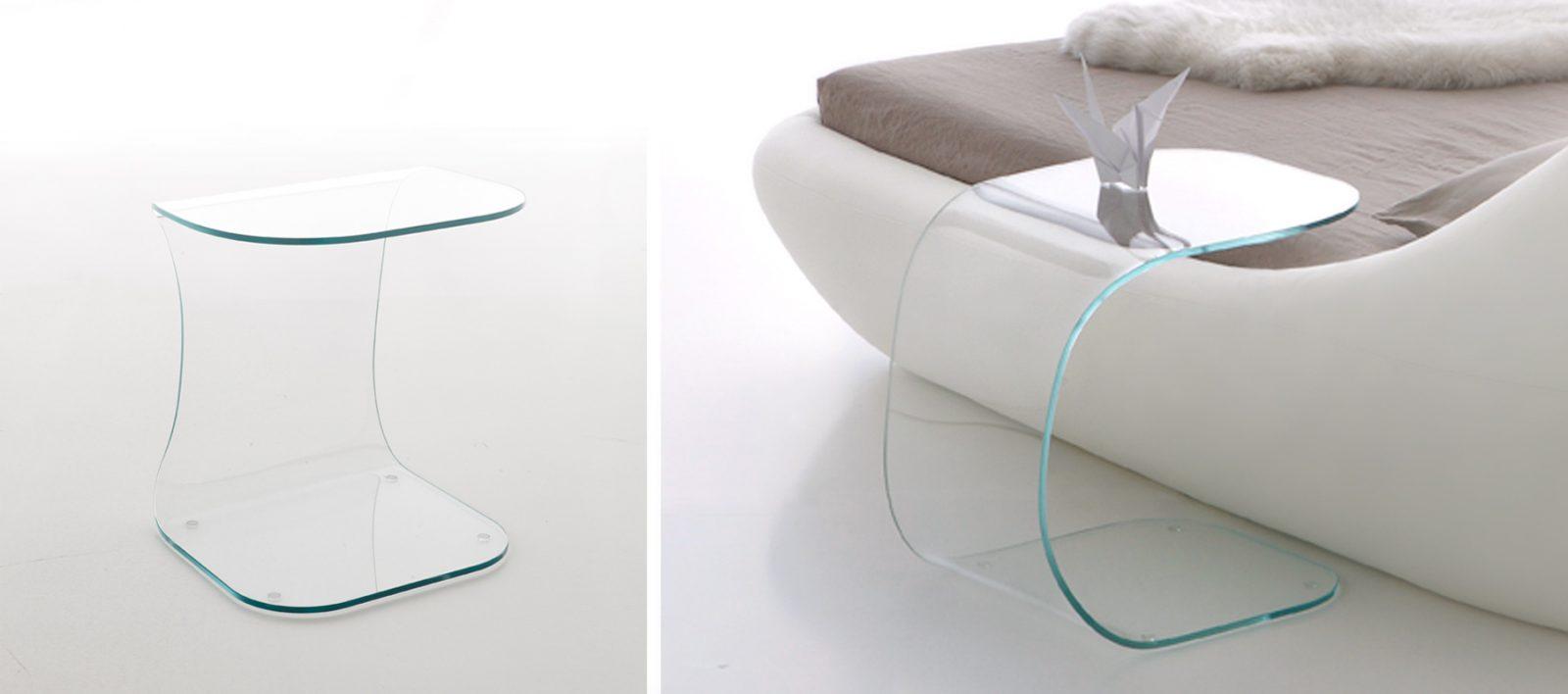 mesas auxiliares de cristal. Black Bedroom Furniture Sets. Home Design Ideas
