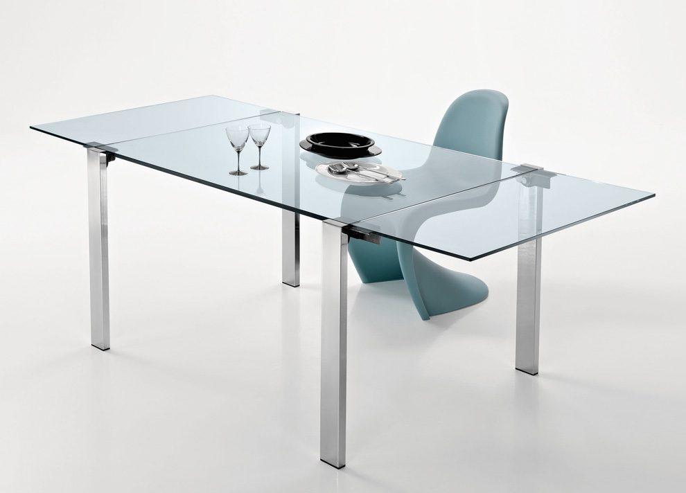 Mesas de cristal extensibles - Mesa blanca extensible ...