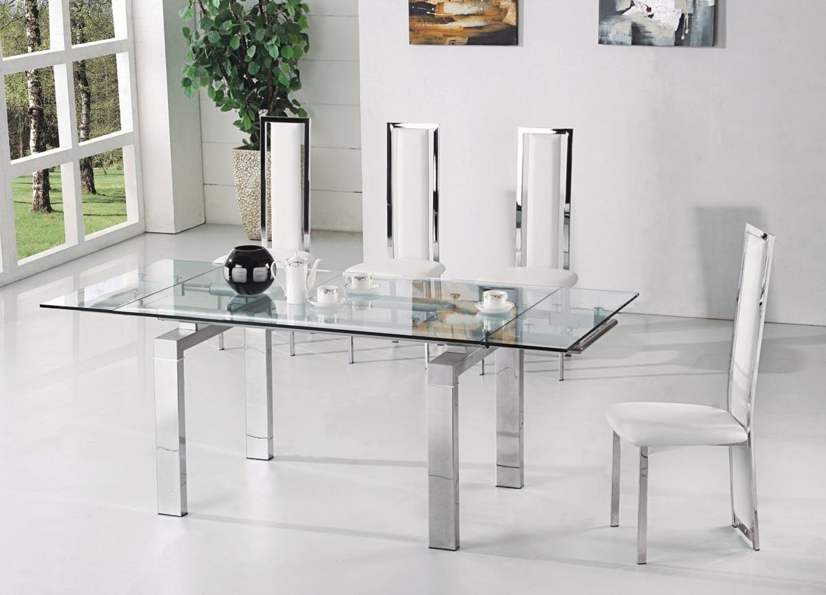 Mesas de cristal extensibles