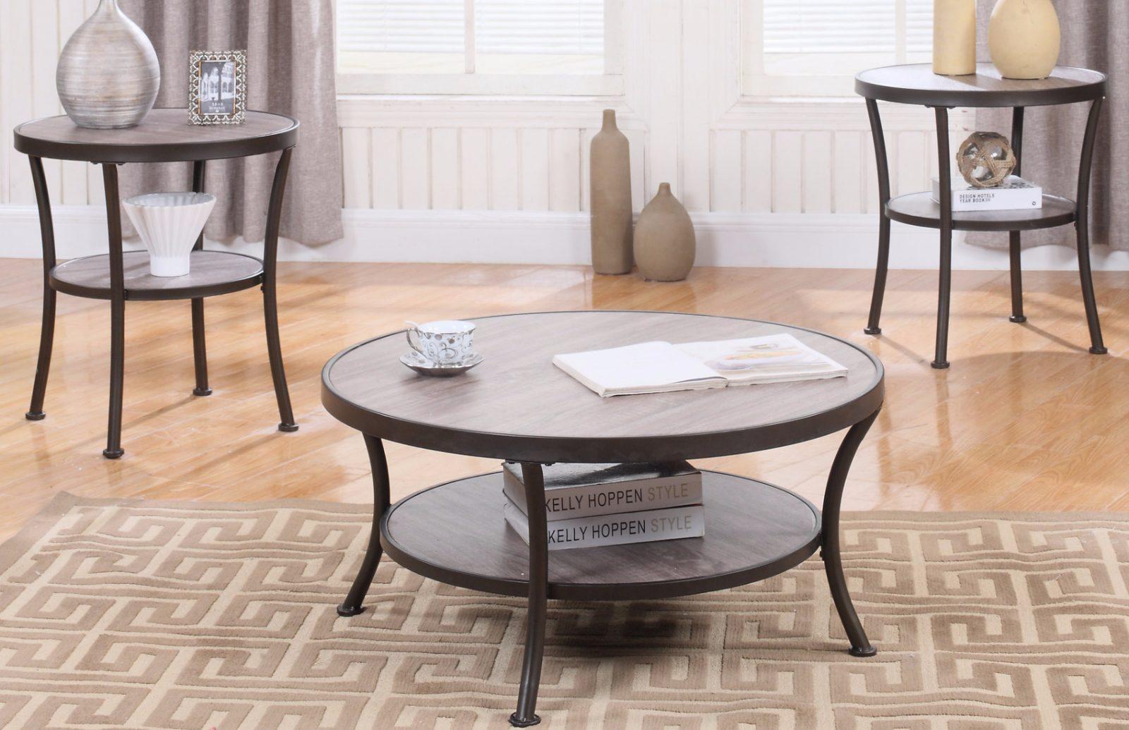 Mesas de centro redondas modernas top free mesa grande de for Mesas redondas modernas comedor