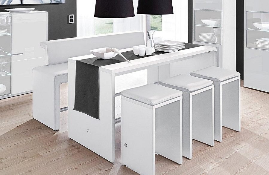 Mesas altas de cocina for Mesa cocina blanca