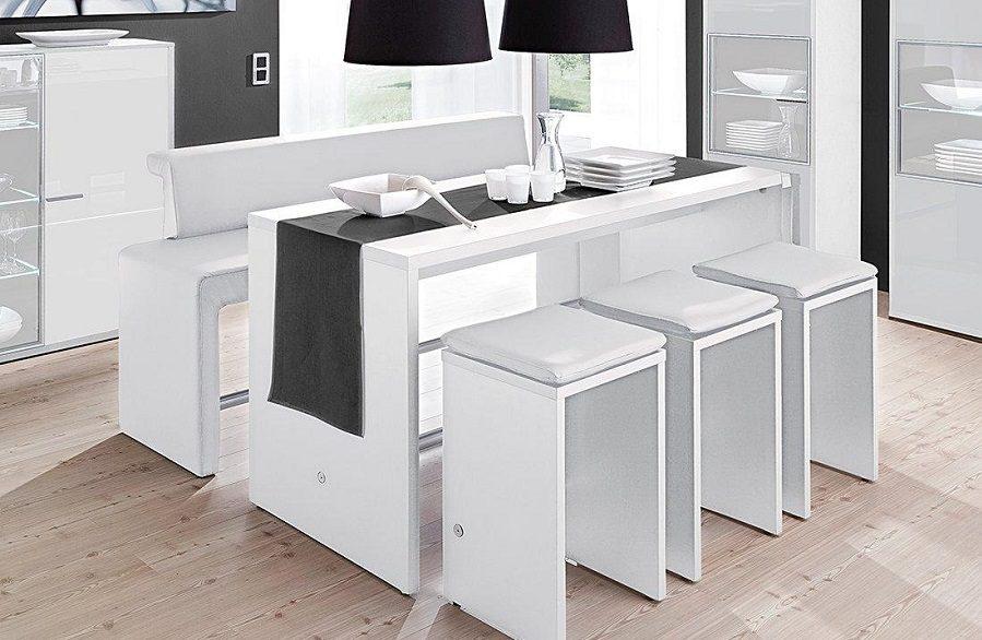Mesas altas de cocina for Mesas de cocina blancas y madera