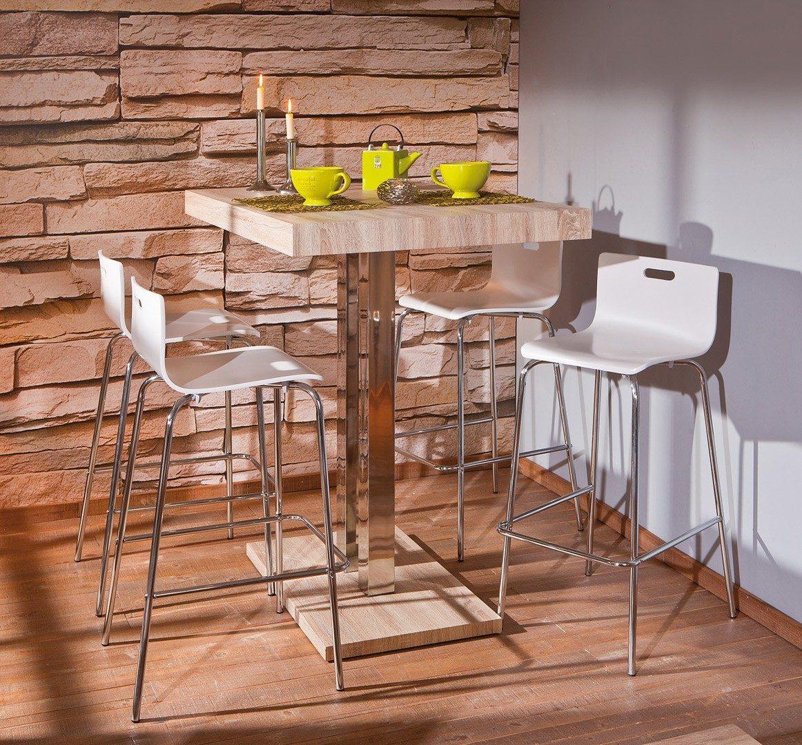 Mesa de cocina alta con pedestal :: Imágenes y fotos