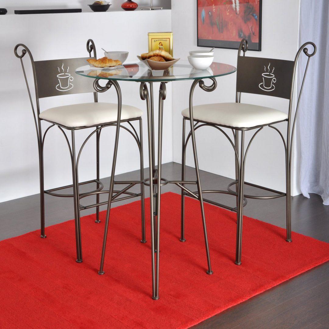Mesa de cocina alta de cristal im genes y fotos for Mesas altas de cocina