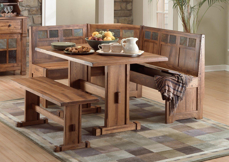 Mesa de cocina de madera rústica :: Imágenes y fotos