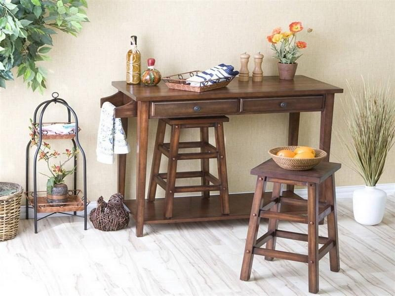 Mesa de cocina peque a con cajonera im genes y fotos - Mesas rusticas de cocina ...