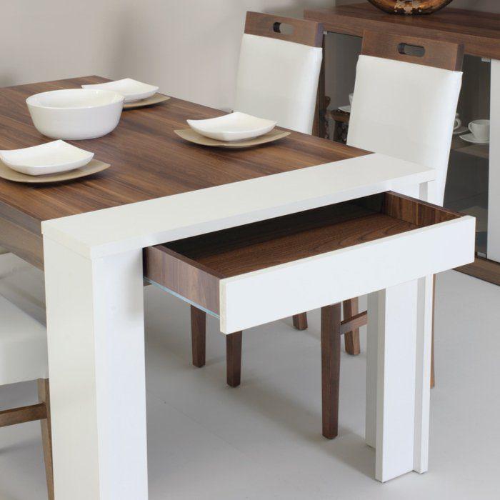 Mesa de cocina pequeña y extensible :: Imágenes y fotos