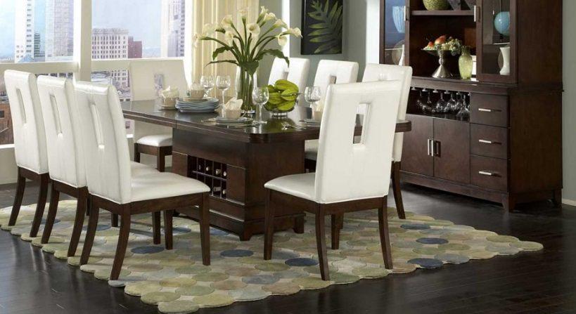 Mesa de comedor de madera rectangular :: Imágenes y fotos