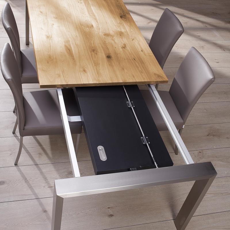 Mesas de comedor extensibles for Mesas de comedor de madera