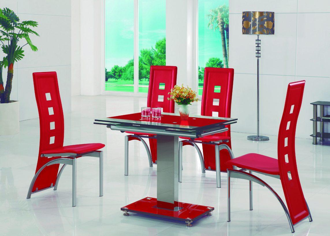 Mesa de cristal extensible para comedores modernos for Comedores redondos de cristal