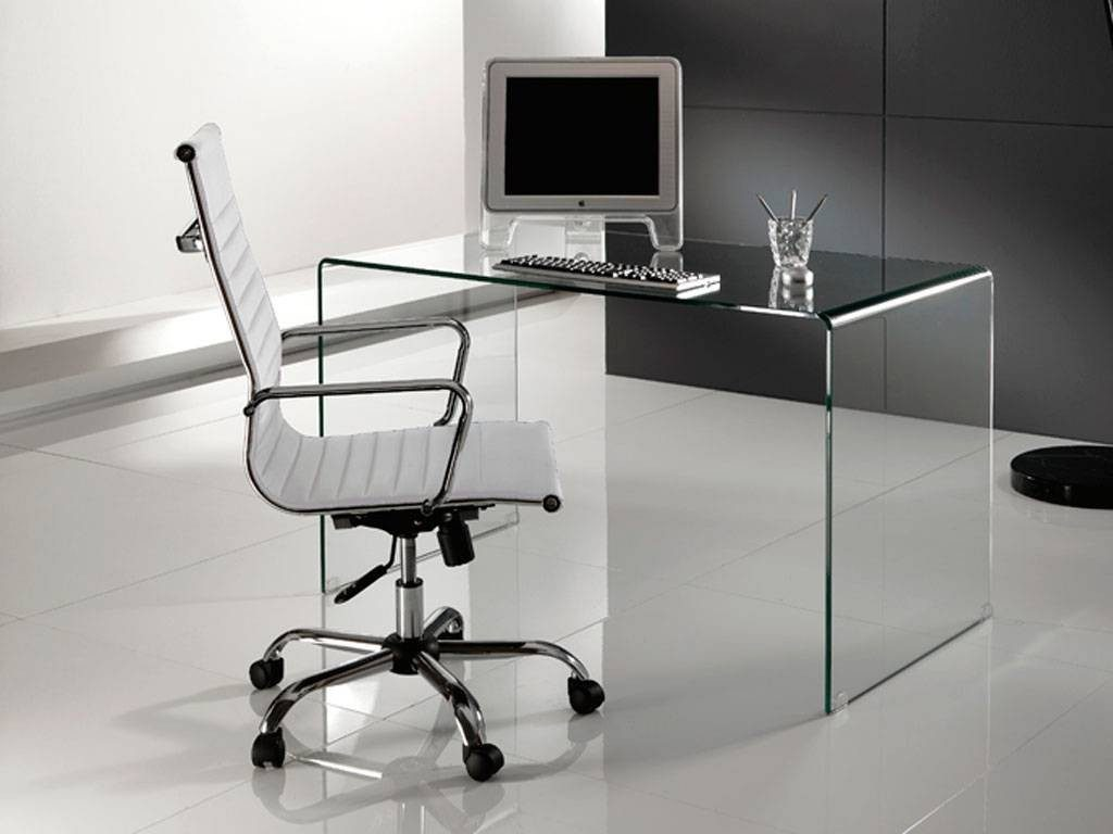 Mesas de escritorio de cristal for Mesa cristal ikea escritorio