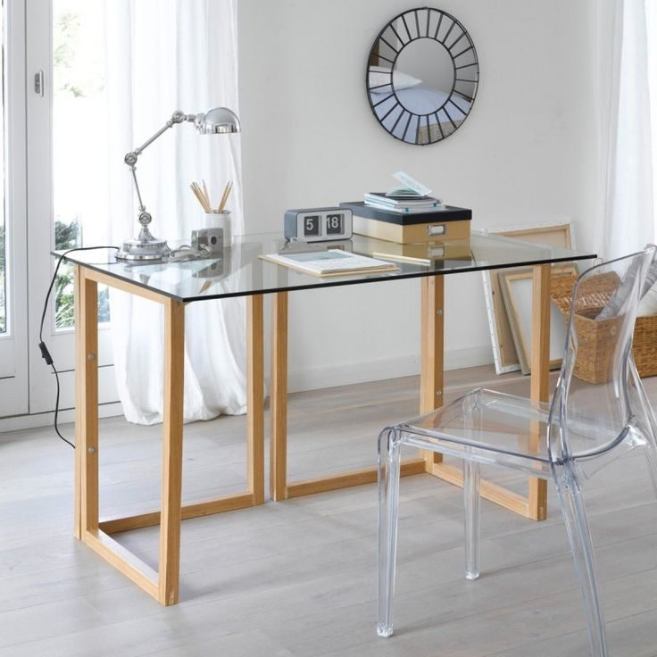 mesas de escritorio de cristal
