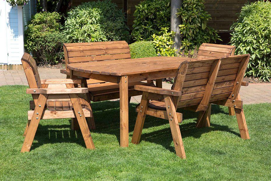 Mesa de jard n de madera im genes y fotos - Mesas de madera de jardin ...