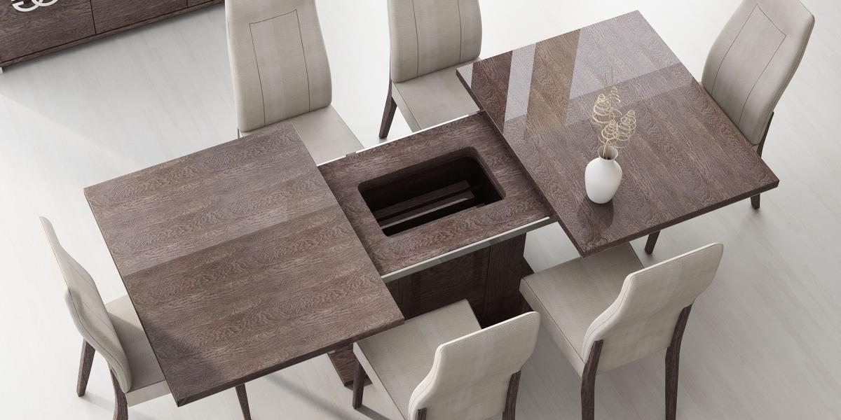mesa de madera expandible