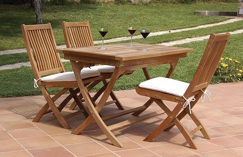 Mesas de madera plegables for Mesa de picnic madera