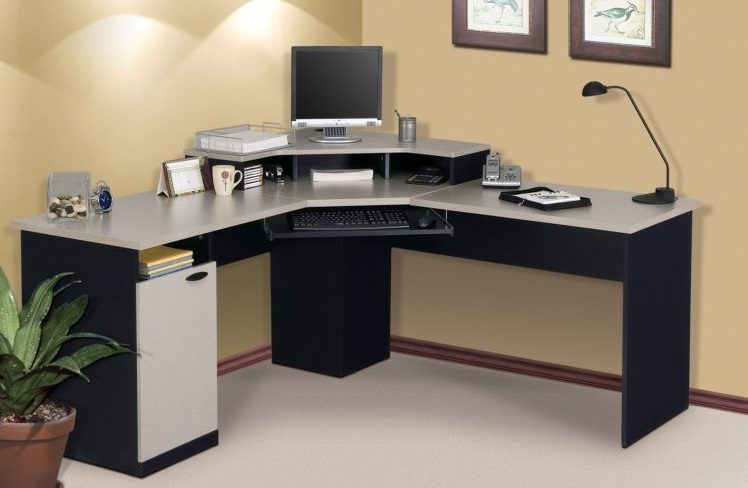 Mesa de ordenador esquinada im genes y fotos - Mesa ordenador pequena ...