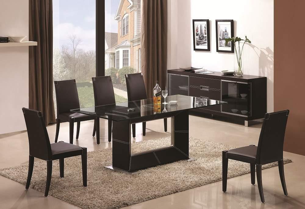 Mesas de comedor de cristal for Mesa comedor moderna
