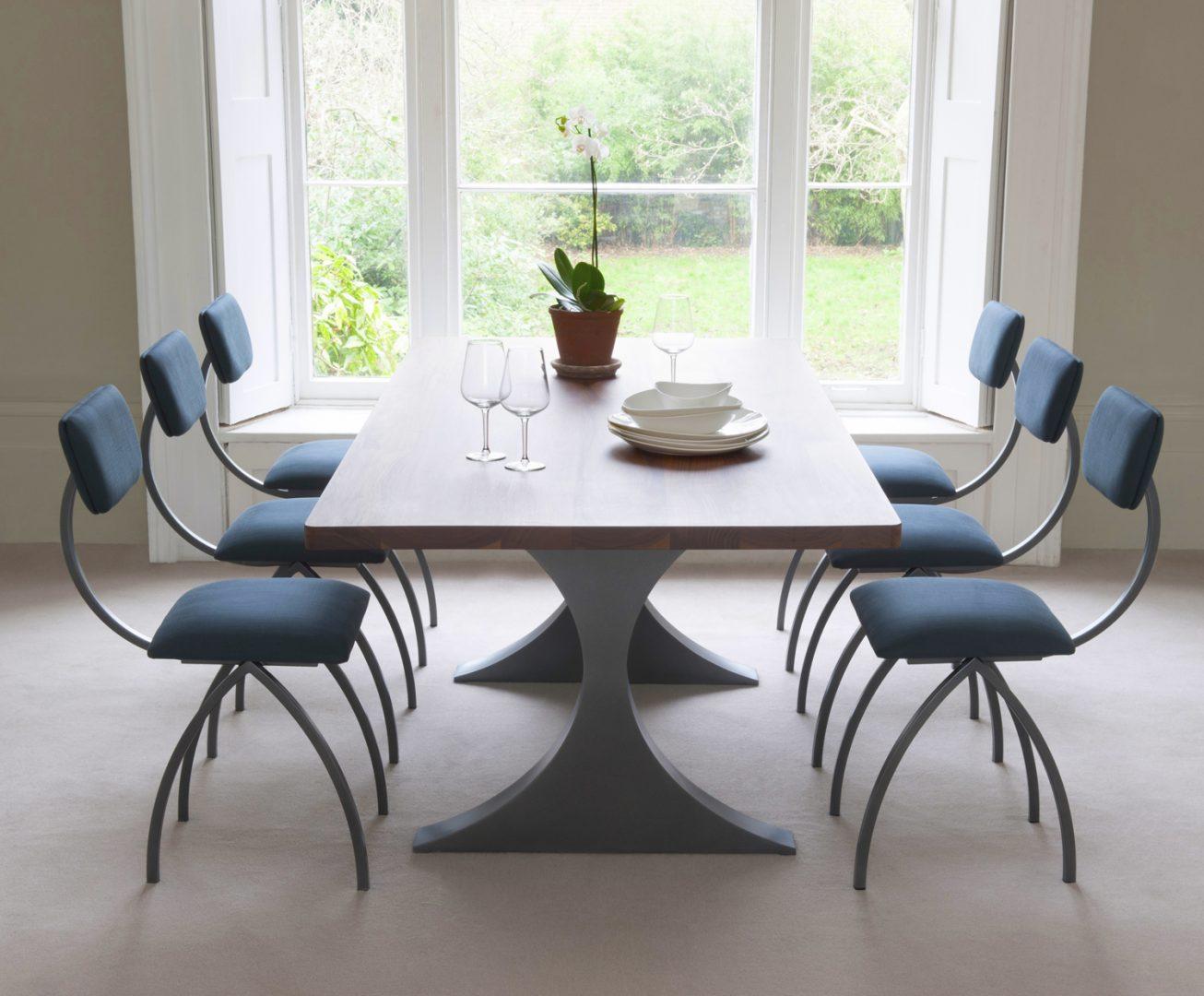 mesa moderna de comedor futurista
