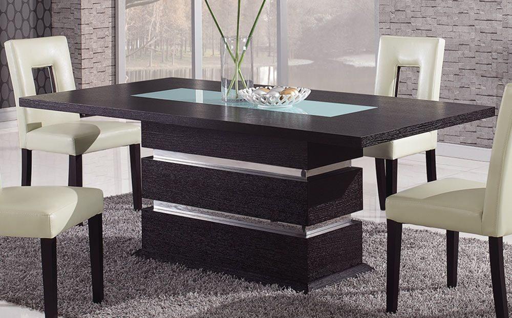 Mesas modernas de comedor for Mesas ovaladas para comedor