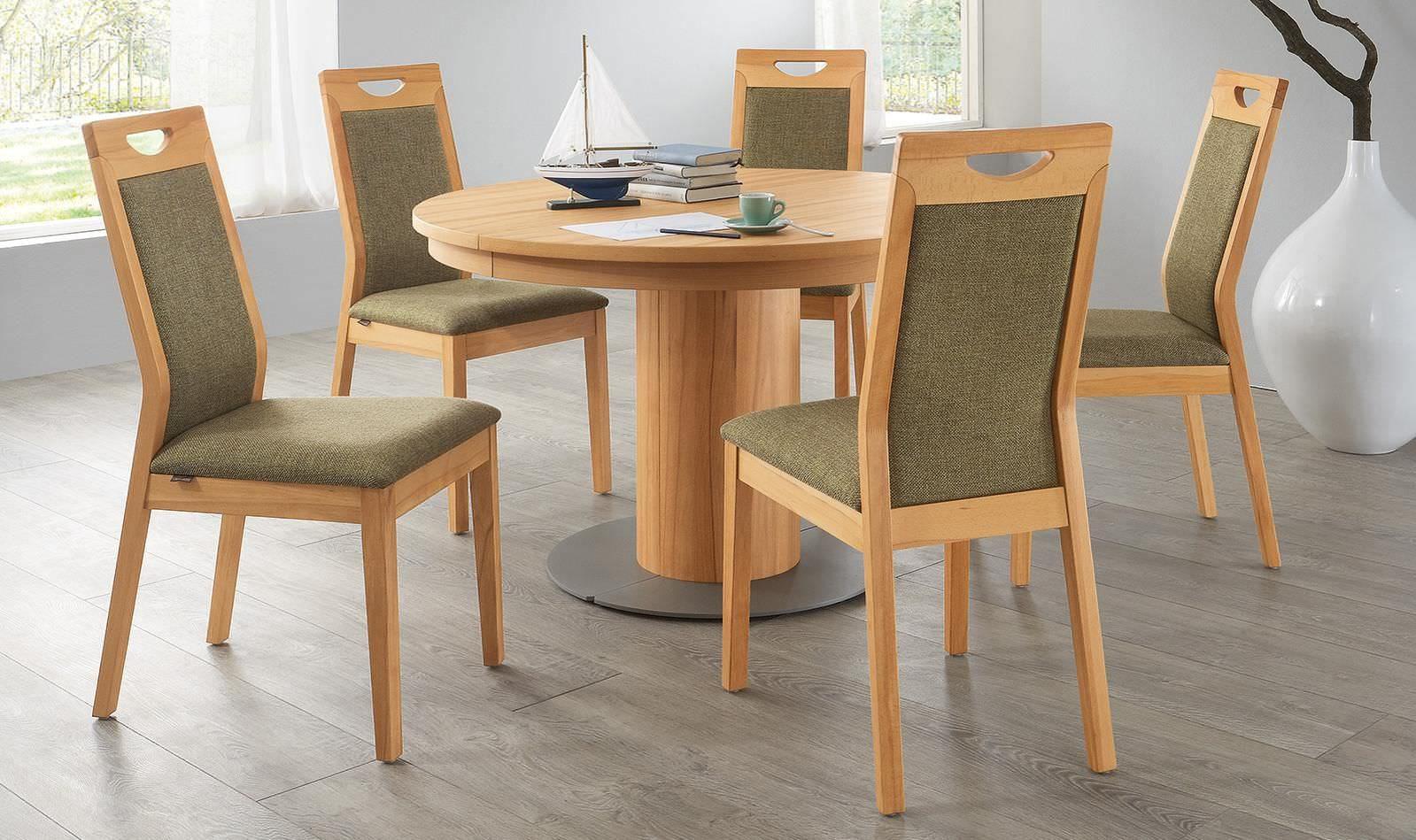 mesas de madera redondas
