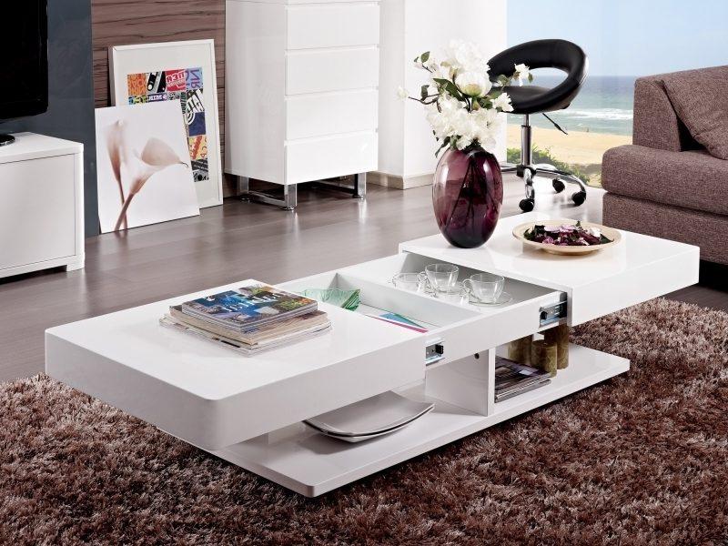 Mesas de centro modernas for Mesas de salon blancas