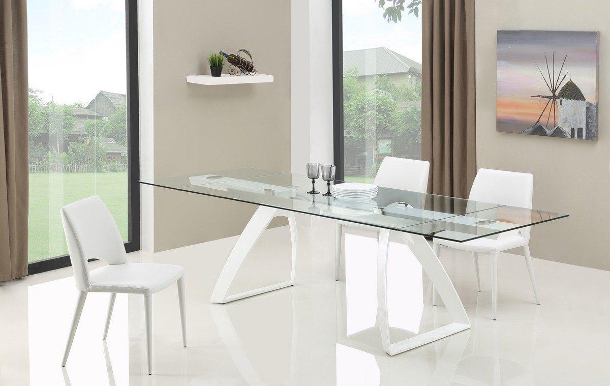 Mesas de cristal extensibles for Mesas de salon de cristal