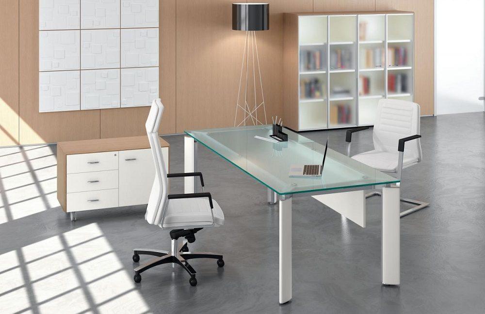 Mesas de despacho de cristal for Mesas de despacho