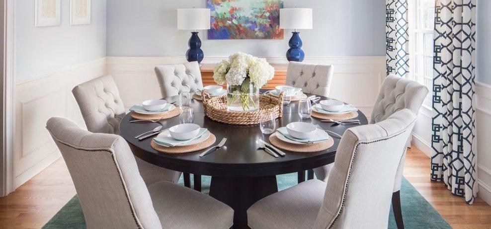 Mesas redondas de comedor for Comedores de madera redondos modernos
