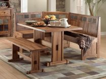 mesa de cocina de madera rstica